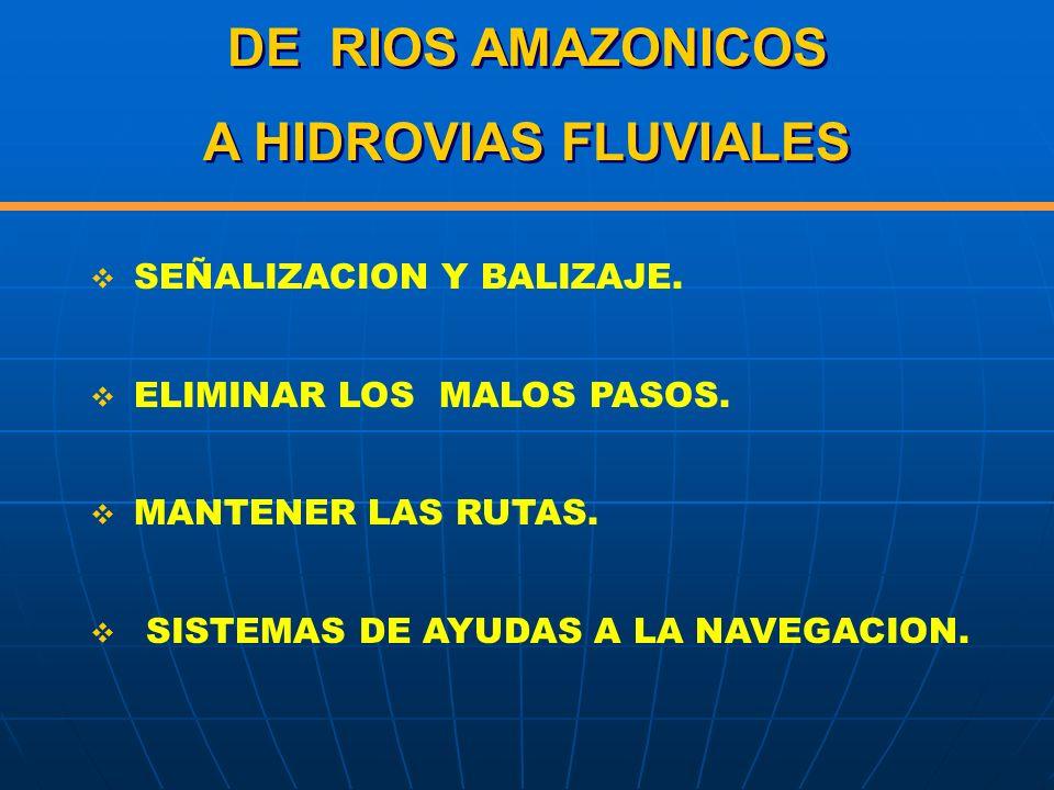 DE RIOS AMAZONICOS A HIDROVIAS FLUVIALES
