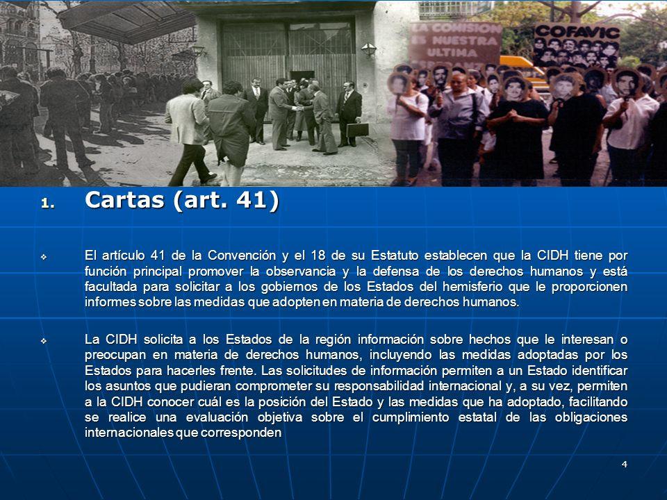Cartas (art. 41)