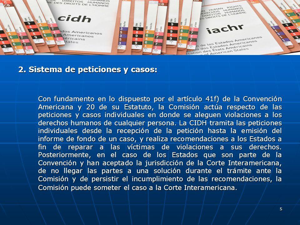 2. Sistema de peticiones y casos: