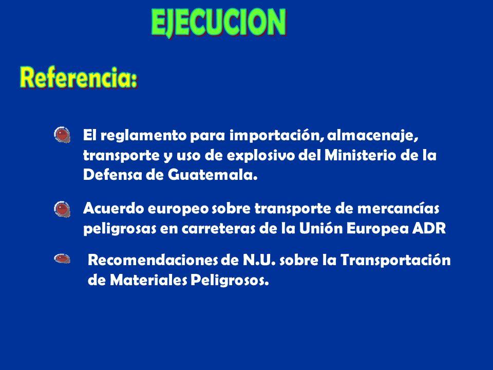 EJECUCION Referencia: