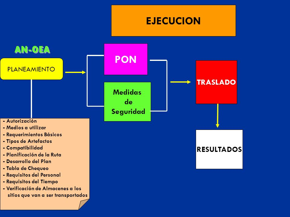 AN-OEA EJECUCION PON TRASLADO Medidas de Seguridad RESULTADOS
