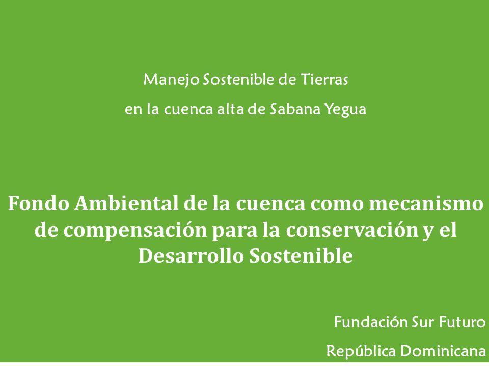 Manejo Sostenible de Tierras en la cuenca alta de Sabana Yegua