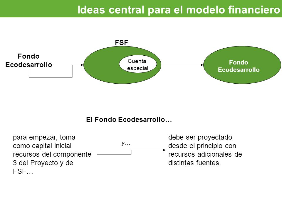 Ideas central para el modelo financiero