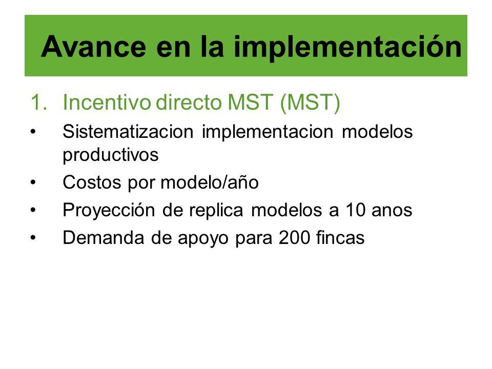 Avance en la implementación