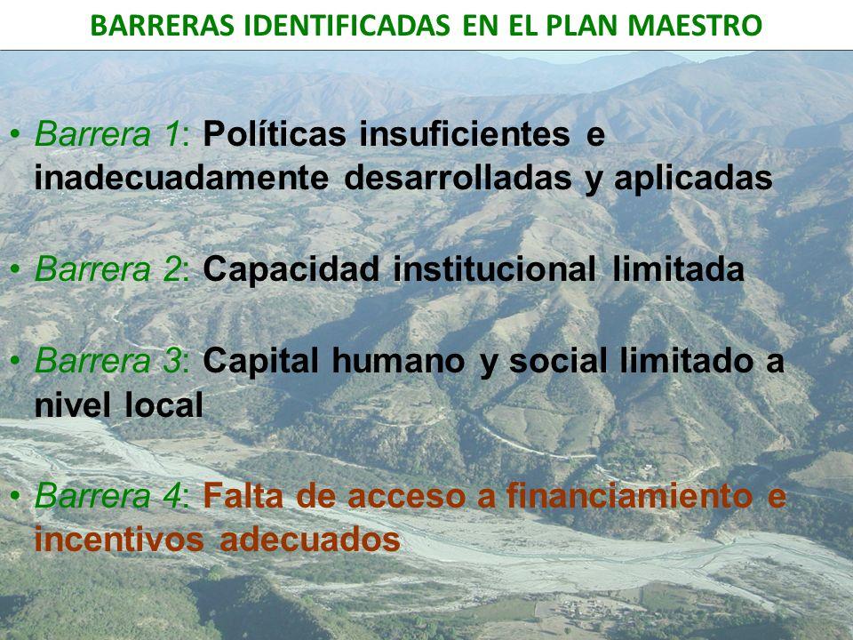 BARRERAS IDENTIFICADAS EN EL PLAN MAESTRO