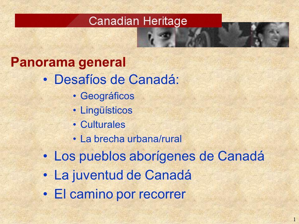 Los pueblos aborígenes de Canadá La juventud de Canadá