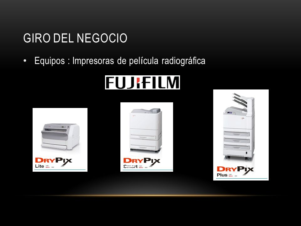 GIRO DEL NEGOCIO Equipos : Impresoras de película radiográfica