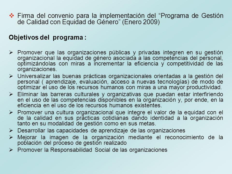 Objetivos del programa :