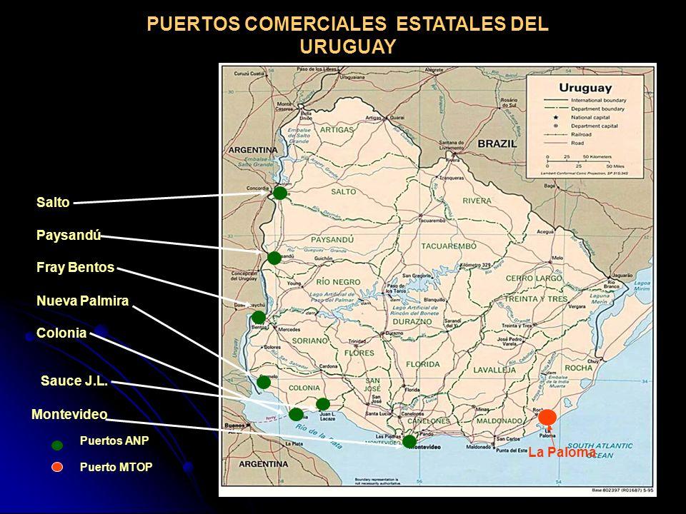 PUERTOS COMERCIALES ESTATALES DEL URUGUAY