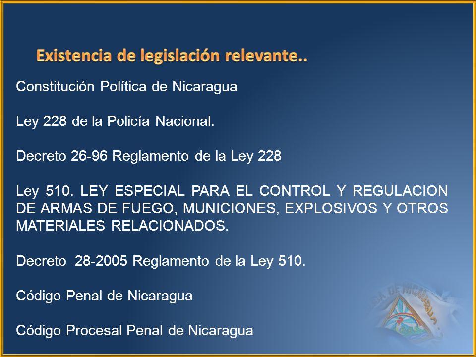 Existencia de legislación relevante..