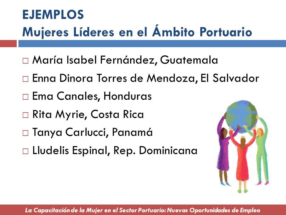 EJEMPLOS Mujeres Líderes en el Ámbito Portuario