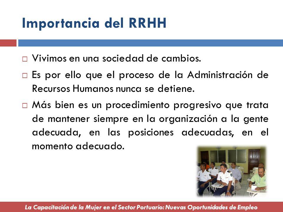 Importancia del RRHH Vivimos en una sociedad de cambios.