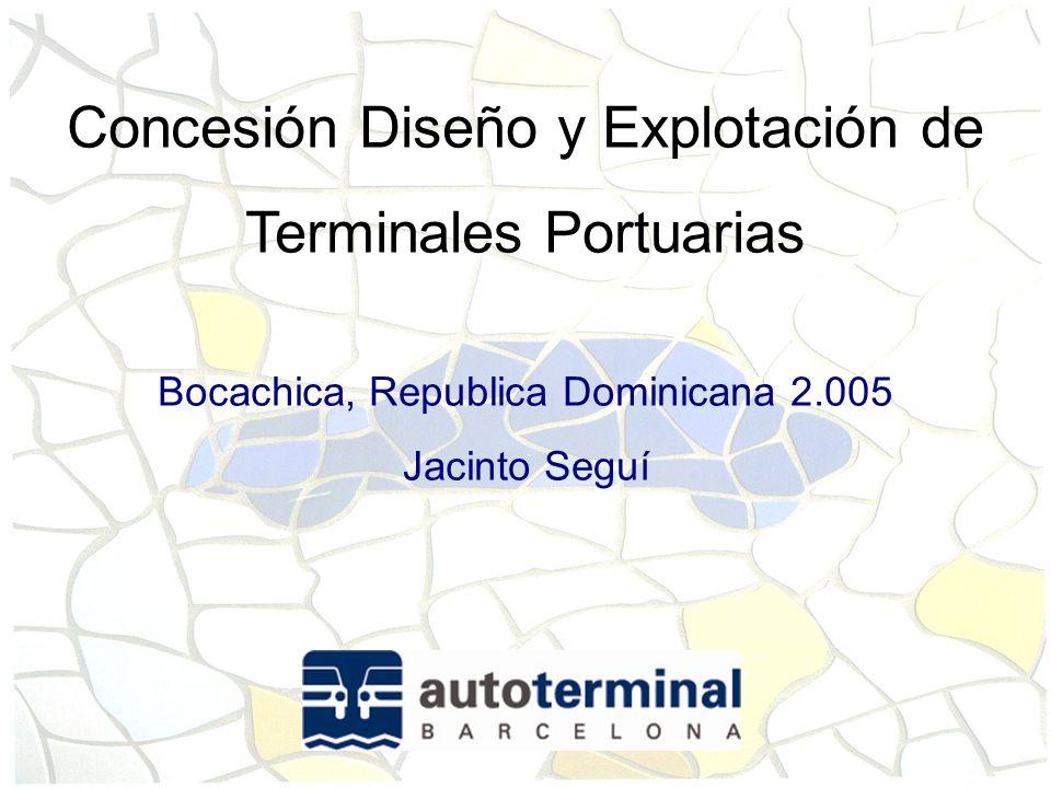 Concesión Diseño y Explotación de Terminales Portuarias
