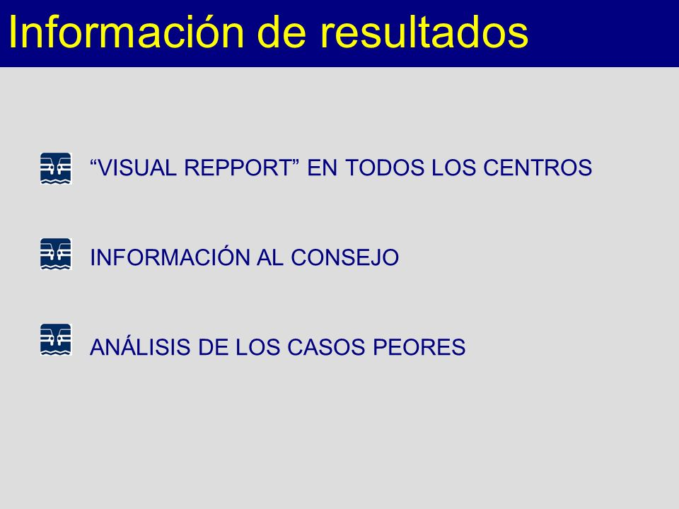 Información de resultados