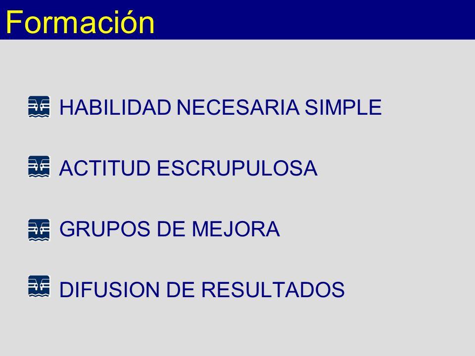Formación HABILIDAD NECESARIA SIMPLE ACTITUD ESCRUPULOSA