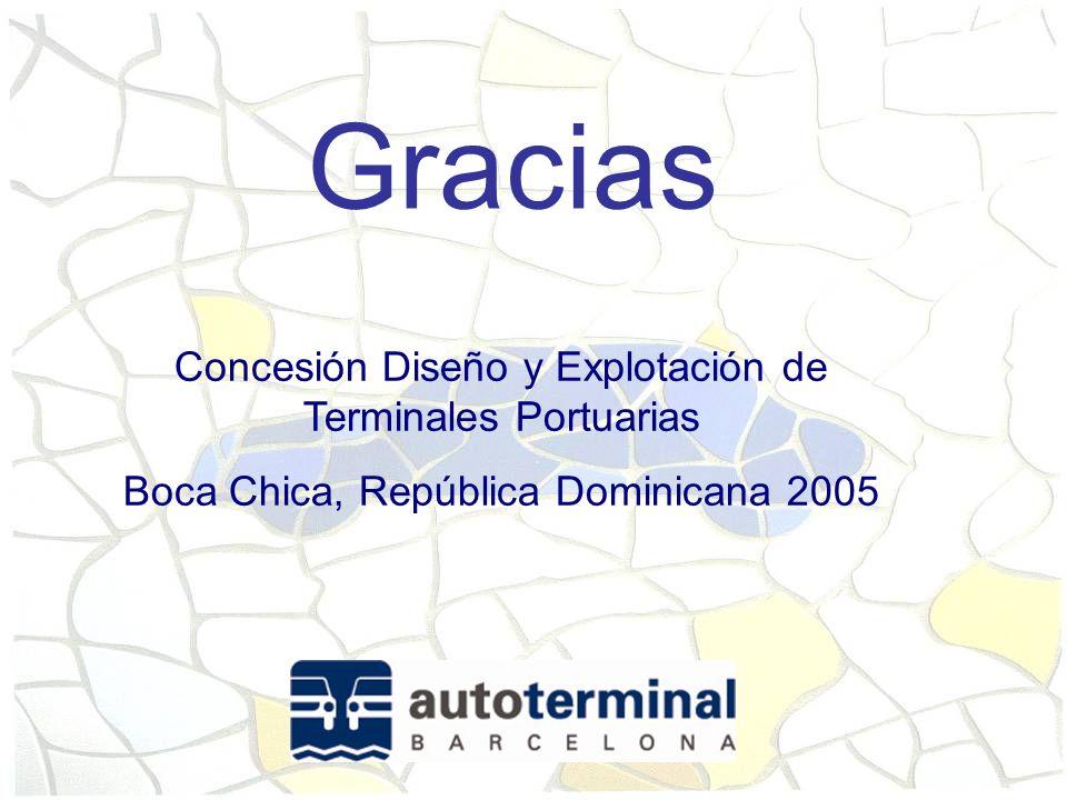 Gracias Concesión Diseño y Explotación de Terminales Portuarias