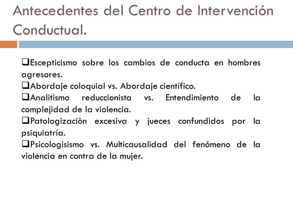 Antecedentes del Centro de Intervención Conductual.