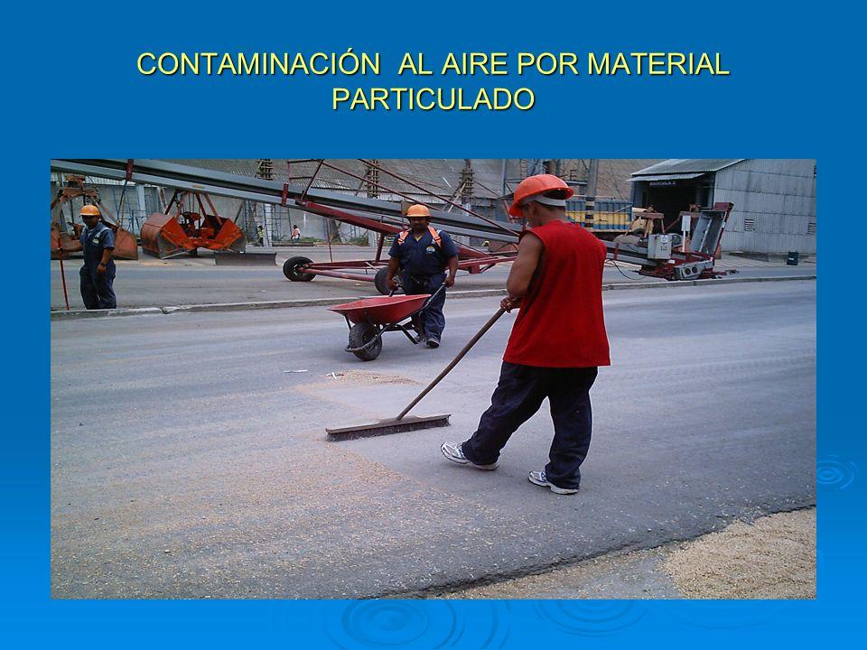 CONTAMINACIÓN AL AIRE POR MATERIAL PARTICULADO