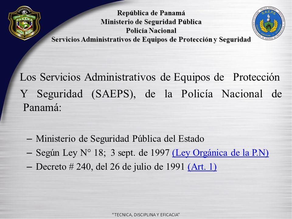 - Los Servicios Administrativos de Equipos de Protección