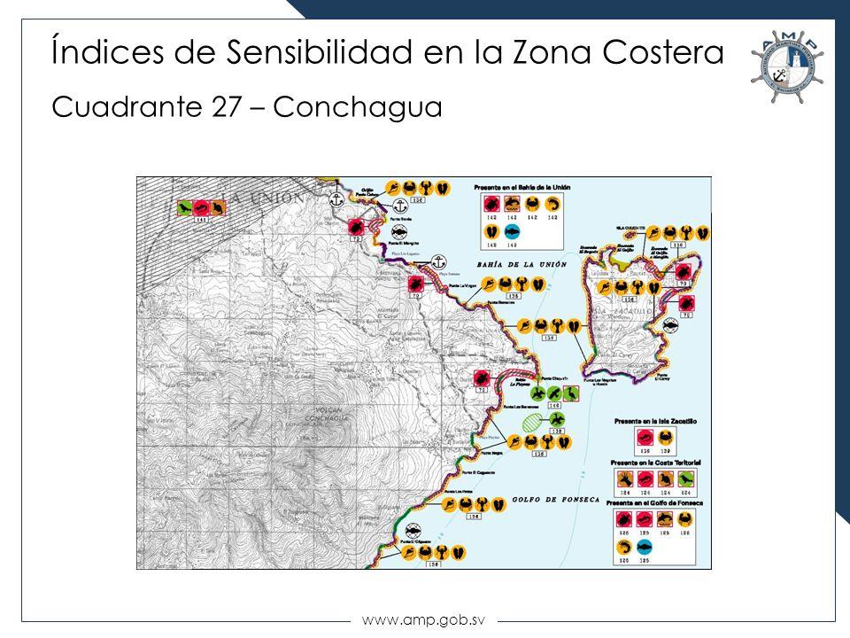 Índices de Sensibilidad en la Zona Costera Cuadrante 27 – Conchagua