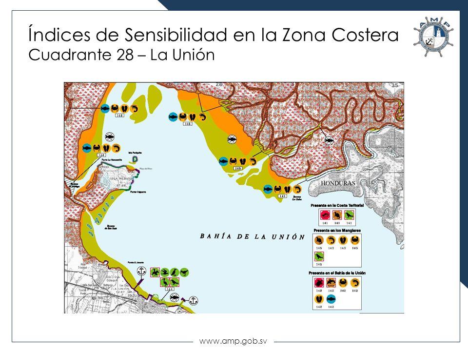 Índices de Sensibilidad en la Zona Costera Cuadrante 28 – La Unión