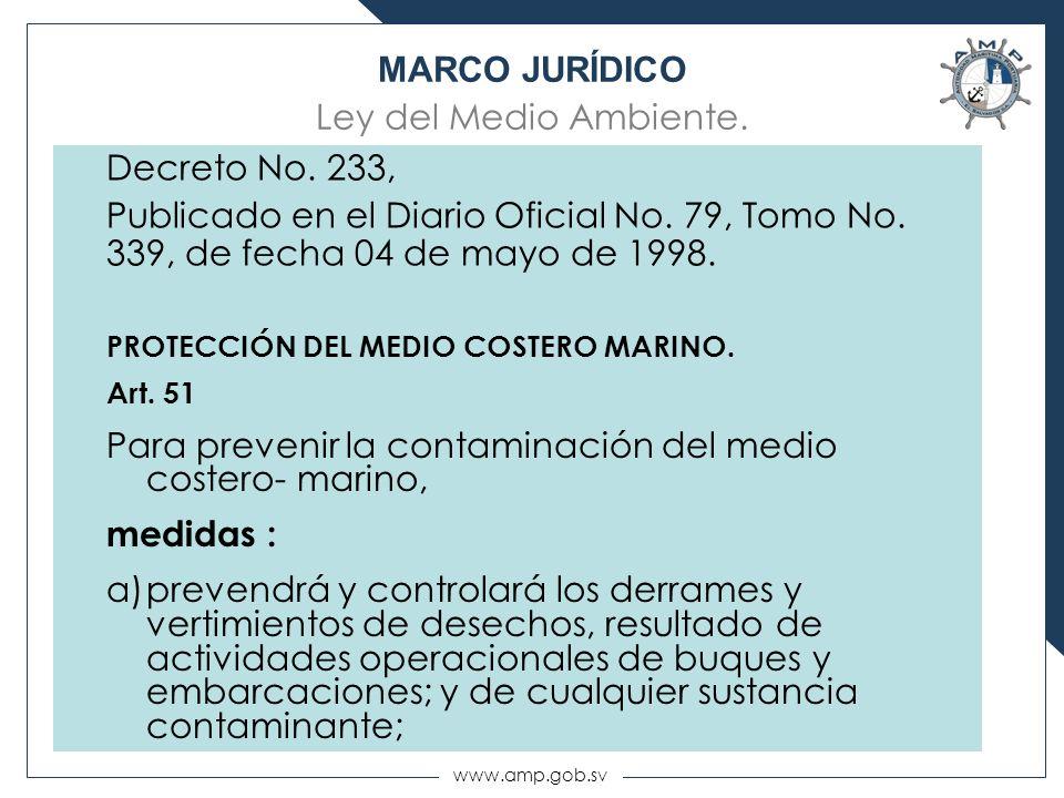 MARCO JURÍDICO Ley del Medio Ambiente.