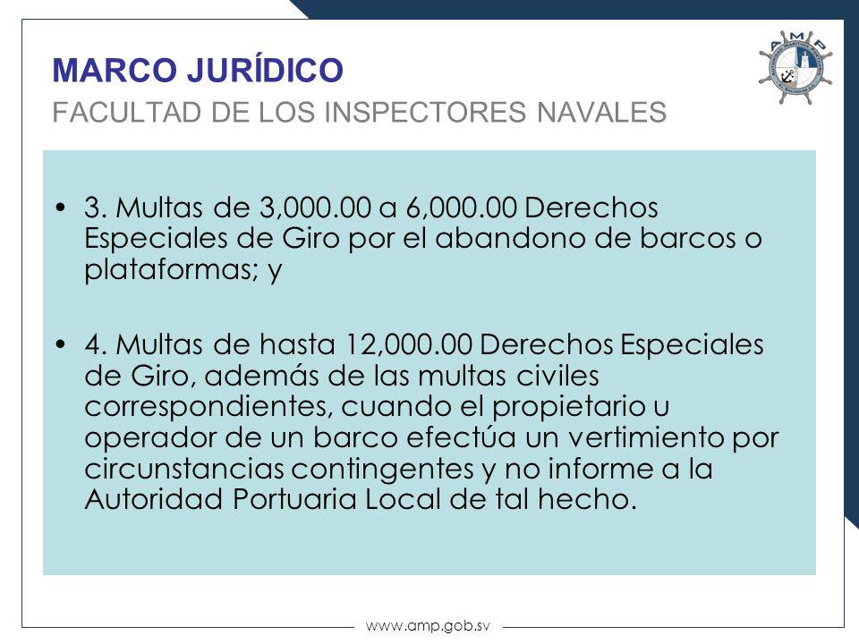 MARCO JURÍDICO FACULTAD DE LOS INSPECTORES NAVALES