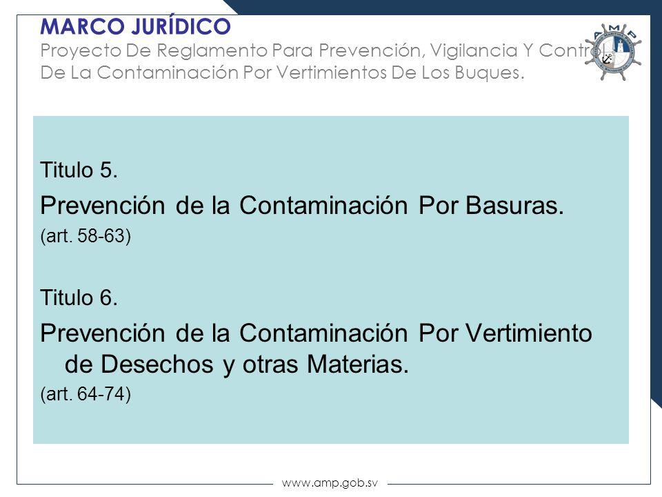 Prevención de la Contaminación Por Basuras.