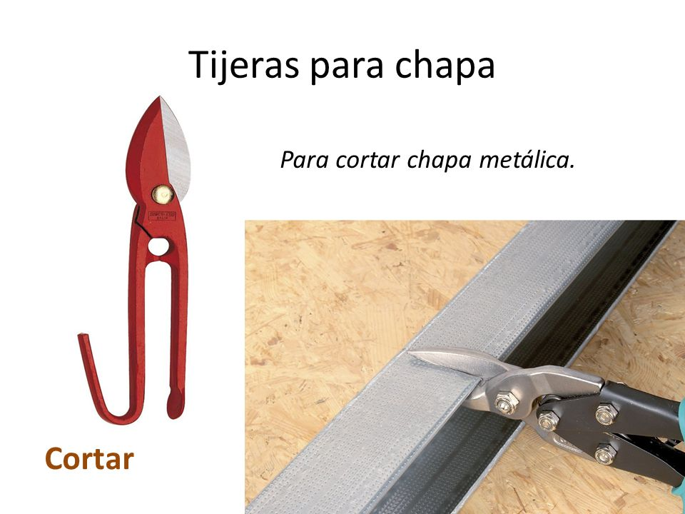 Herramientas del taller ppt video online descargar - Tijeras de chapa ...