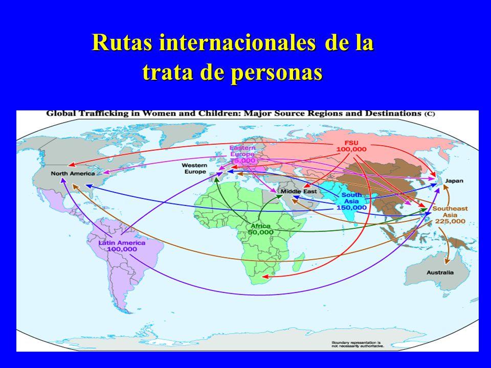 Rutas internacionales de la trata de personas