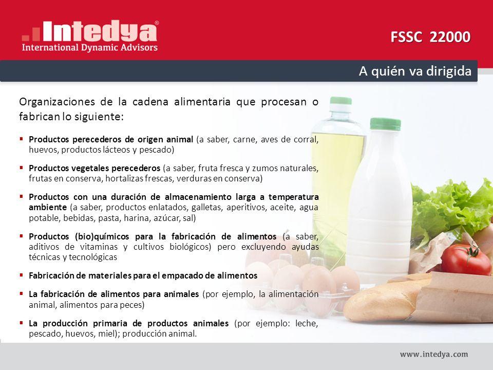 FSSC 22000 A quién va dirigida
