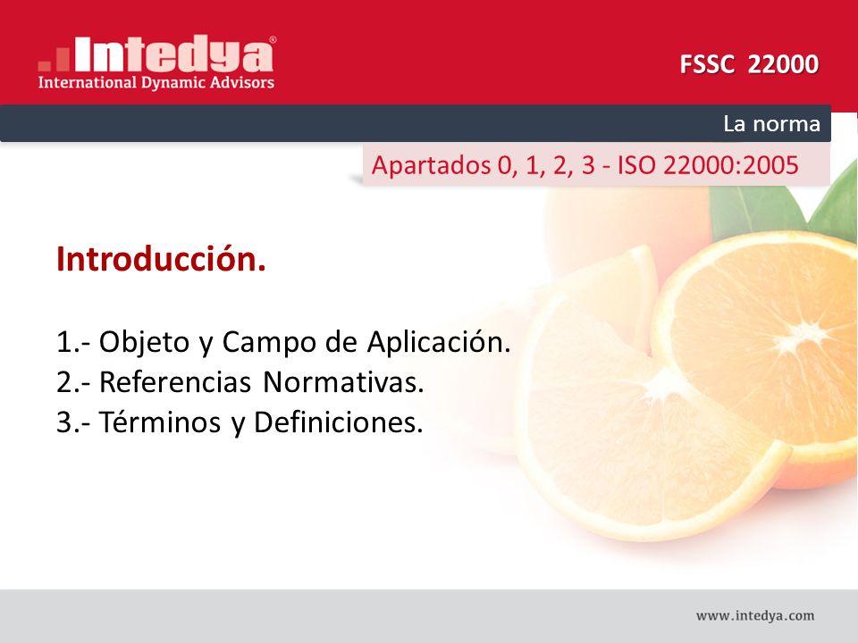 Introducción. 1.- Objeto y Campo de Aplicación.
