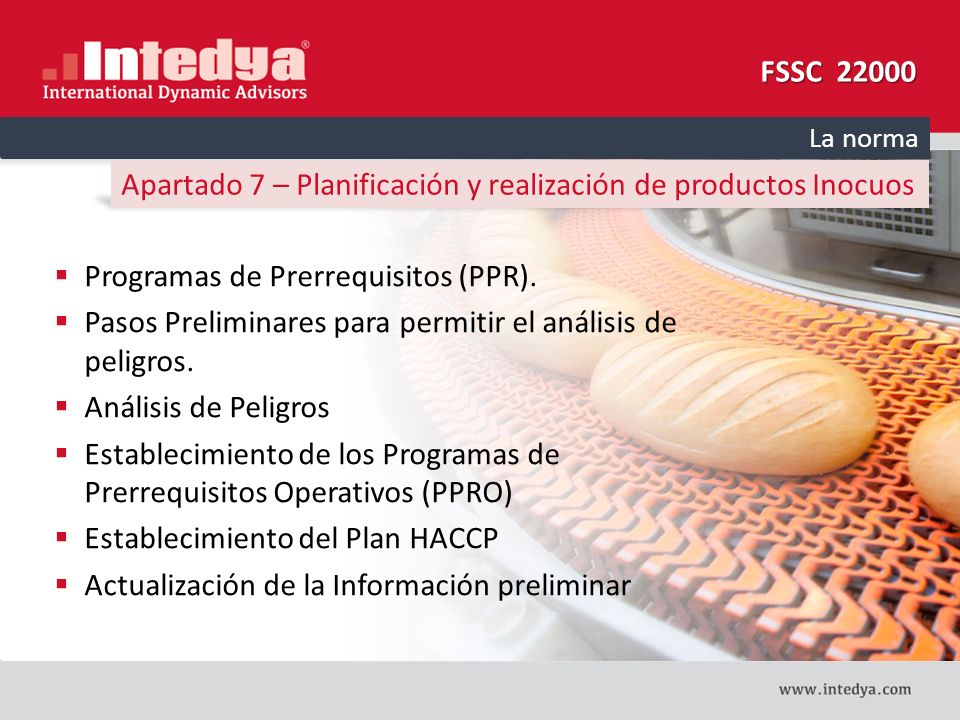 Apartado 7 – Planificación y realización de productos Inocuos