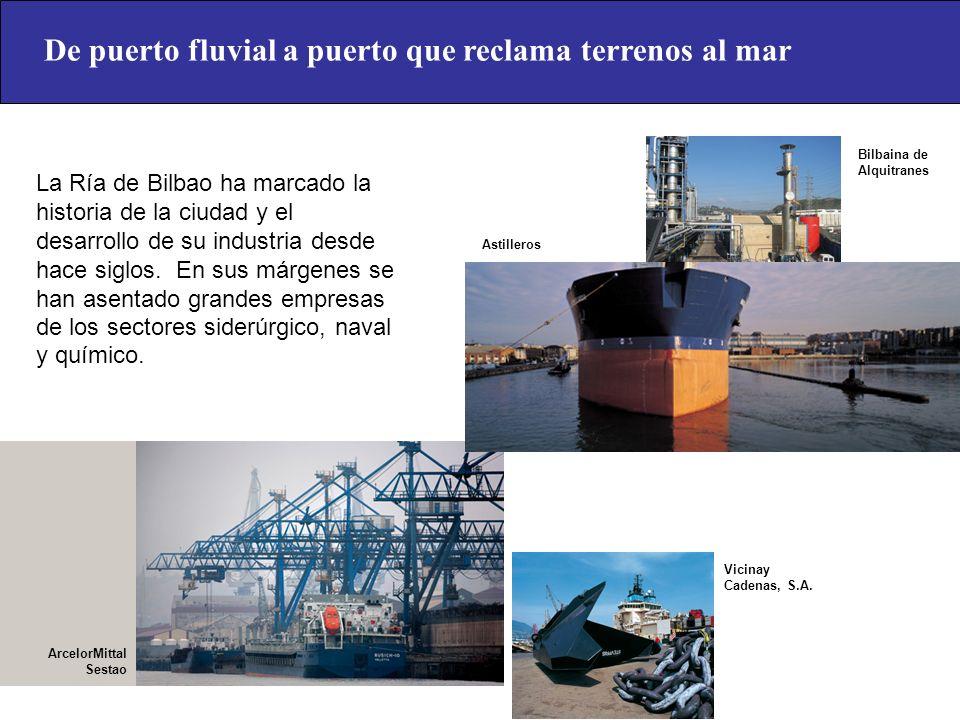 De puerto fluvial a puerto que reclama terrenos al mar