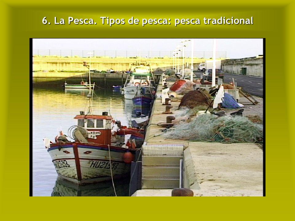 6. La Pesca. Tipos de pesca: pesca tradicional