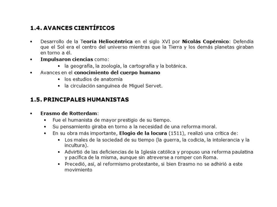 1.5. PRINCIPALES HUMANISTAS