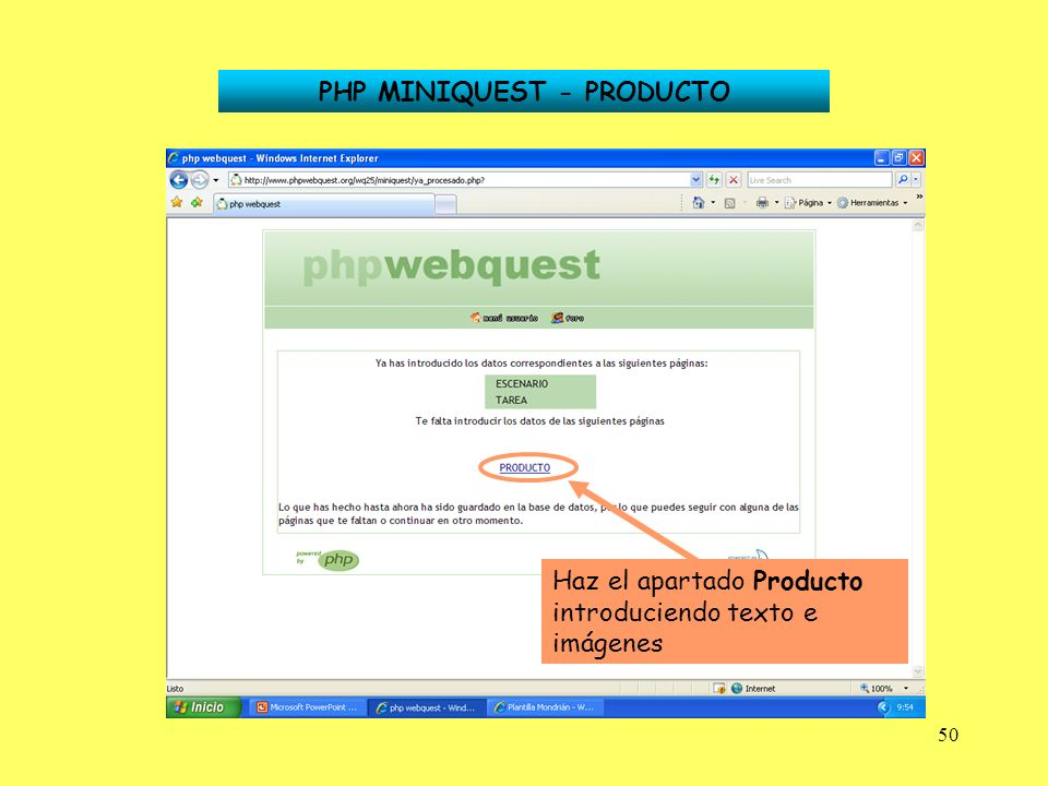PHP MINIQUEST - PRODUCTO