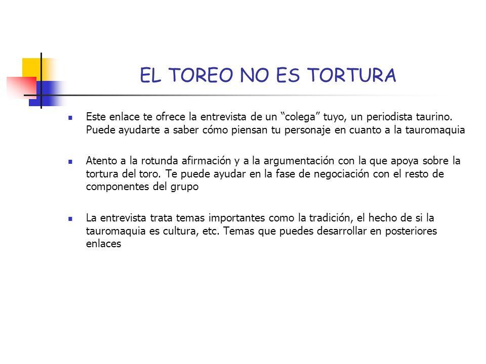 EL TOREO NO ES TORTURA
