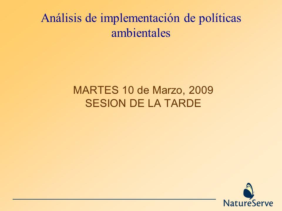 Análisis de implementación de políticas ambientales