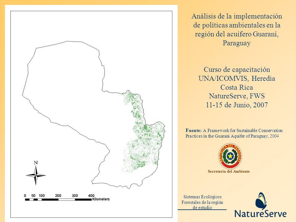 Sistemas Ecológicos Forestales de la región de estudio