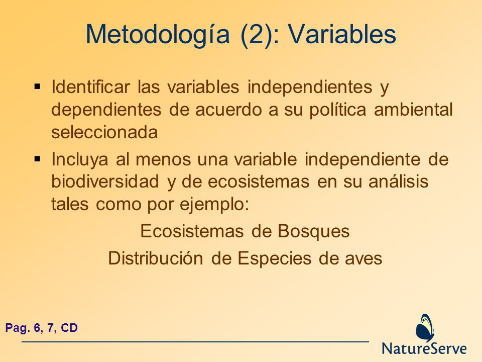 Metodología (2): Variables
