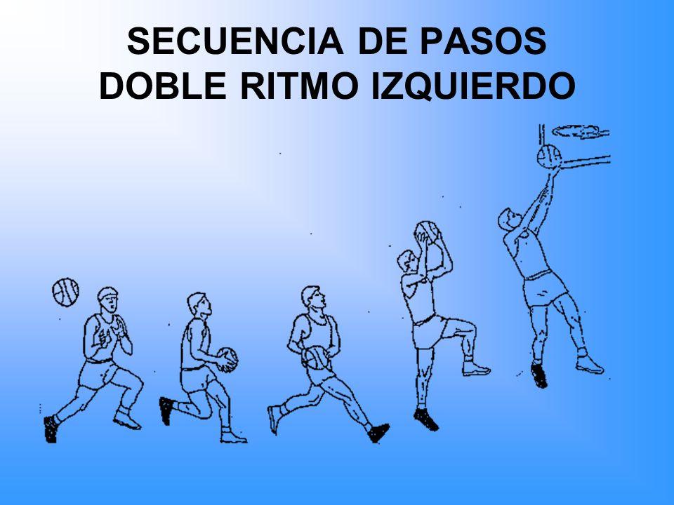 SECUENCIA DE PASOS DOBLE RITMO IZQUIERDO