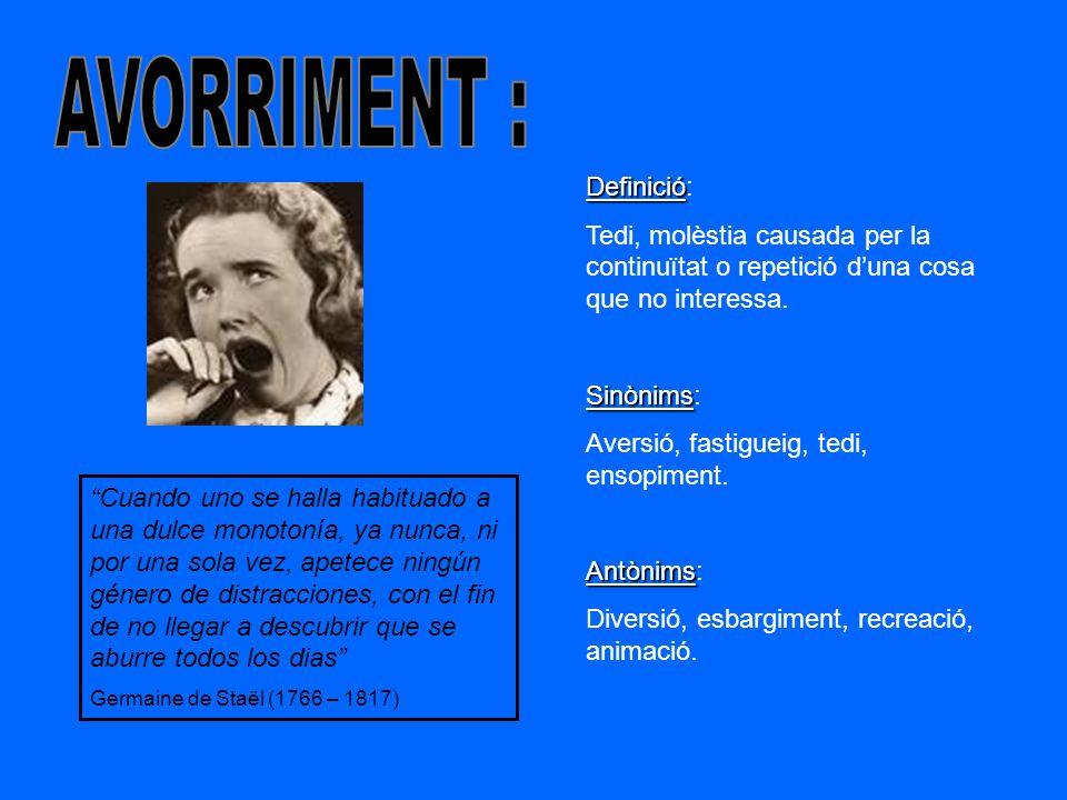 AVORRIMENT : Definició: