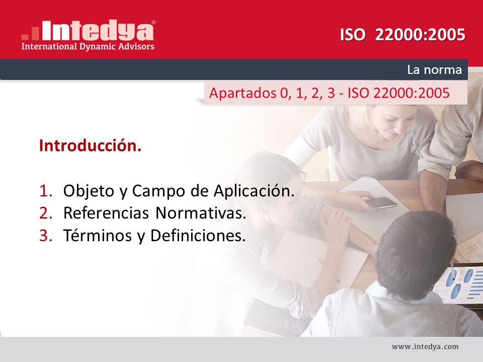 Objeto y Campo de Aplicación. Referencias Normativas.