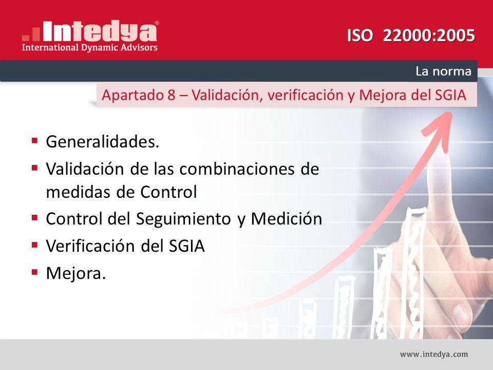 Validación de las combinaciones de medidas de Control