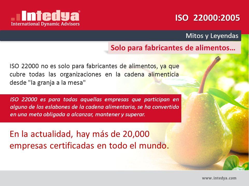 ISO 22000:2005 Mitos y Leyendas. Solo para fabricantes de alimentos…