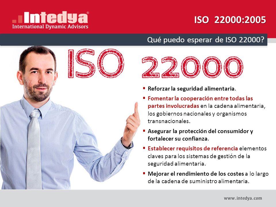 ISO 22000:2005 Qué puedo esperar de ISO 22000