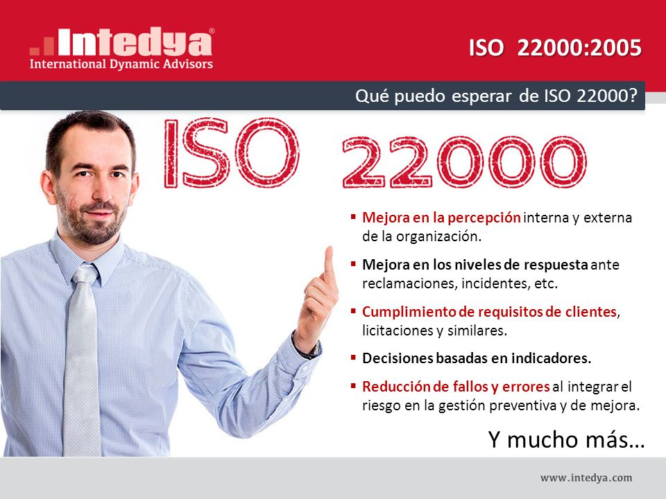 ISO 22000:2005 Y mucho más… Qué puedo esperar de ISO 22000