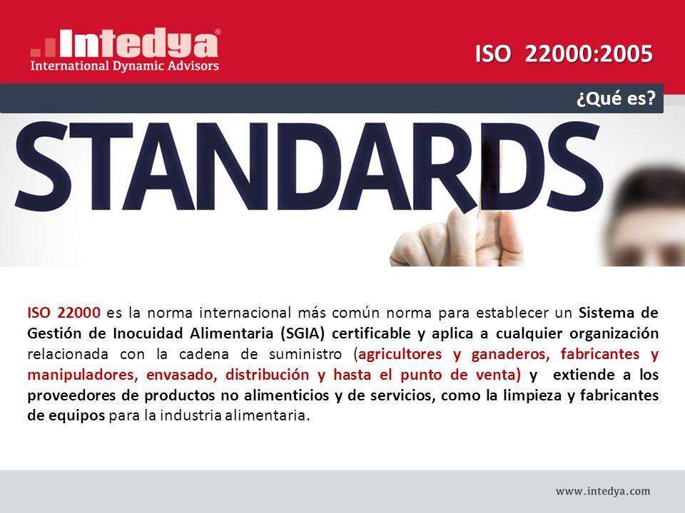 ISO 22000:2005 ¿Qué es