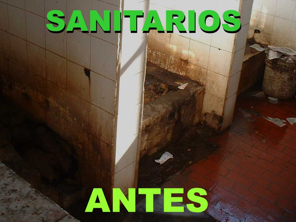 SANITARIOS ANTES